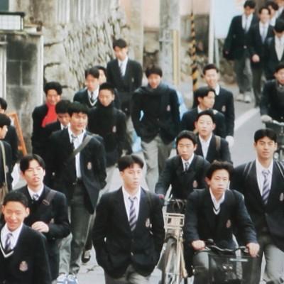 南禅寺方面から通学するガシ高生。